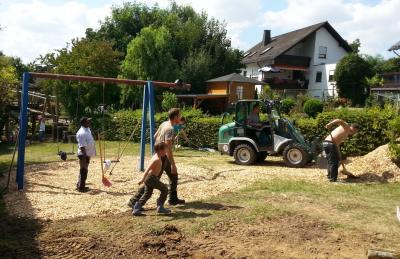 Foto zur Meldung: Spielplatzsanierung – Restarbeiten im Spätsommer