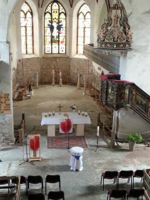 Foto zur Meldung: Ideenfindung zur liturgischen Konzeption des Innenraumes der Stadtpfarrkirche Beelitz
