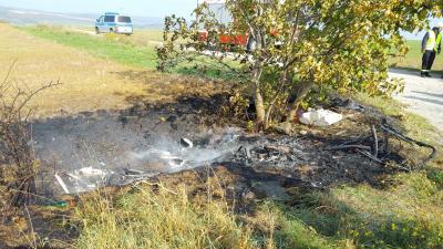 Foto zur Meldung: Brandbekämpfung - Brand von Unrat