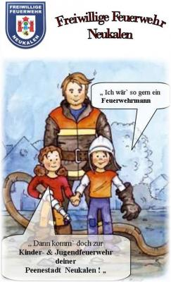 Foto zur Meldung: Werbeflyer für Kinder & Jugend der FFw-Neukalen