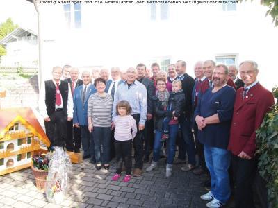 Viele Mitglieder und Vorstände von den verschiedenen Geflügelzuchtvereinen gratulierten