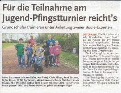 Foto zur Meldung: Unsere Boule-AG