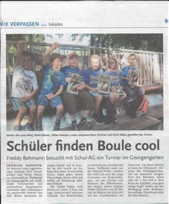 Foto zur Meldung: Schüler finden Boule cool