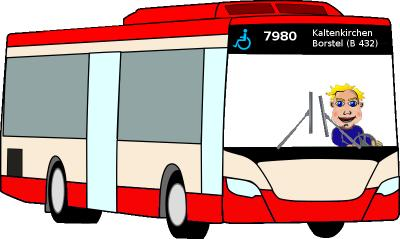 Linie 7980 Kaltenkirchen - Borstel und zurück