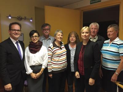 Foto zur Meldung: Tonne zum AWO Vorsitzenden wiedergewählt- AWO Kreiskonferenz mit Neuwahlen und Diskussion zur Flüchtlingssituation