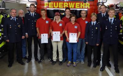 Foto zur Meldung: Feuerwehrausbildung erfolgreich abgeschlossen