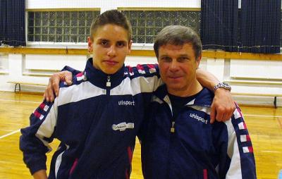 Philip Reinsch mit seinem Trainer Norbert Marsel