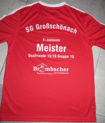 Foto zur Meldung: E-Jugend erhält Meisterschaftsshirts