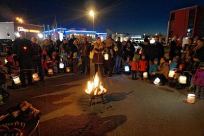 Vorschaubild zur Meldung: Kita Stubenwald feiert erstes Martinsfest