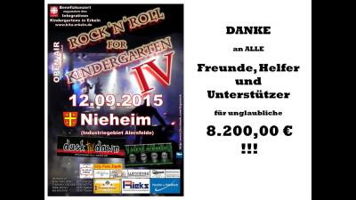 Foto zur Meldung: Erlös Kiga Rock IV, 12.09.2015