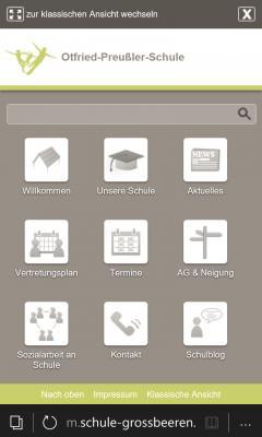 Vorschaubild zur Meldung: Homepage optimiert für mobile Endgeräte