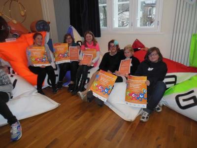 Foto zur Meldung: AFG-Schülerinnen gewinnen Preise beim Plakatwettbewerb zum Anti-Mobbing-Tag