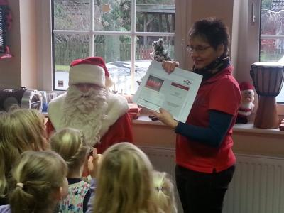 Foto zur Meldung: In Lübesse kam der Weihnachtsmann