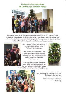 Weihnachtsbaumschmücken im Landtag
