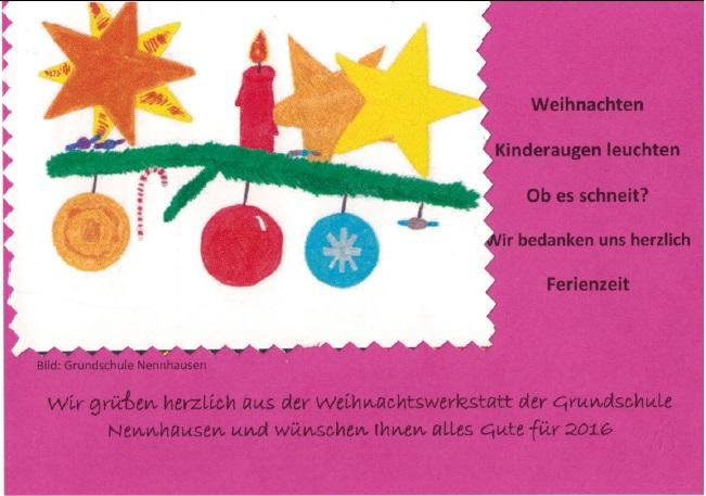 Weihnachtsgrüße Grundschule.Grundschule Friedrich De La Motte Fouqué Weihnachtsgruß