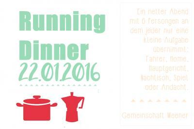 Vorschaubild zur Meldung: Running Dinner am 22.01.2016