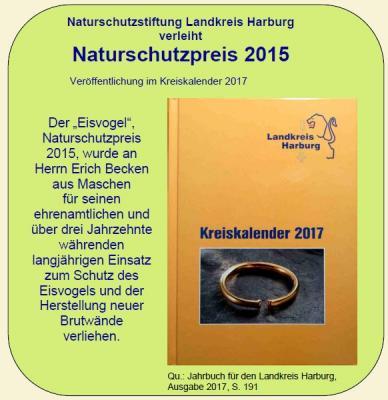 Vorschaubild zur Meldung: Naturschutzpreis 2015 im Kreiskalender
