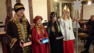 """Vorschaubild zur Meldung: Besuch der """"Heiligen Drei Könige"""""""
