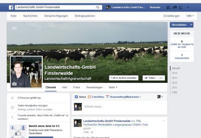Vorschaubild zur Meldung: Jetzt auch mit einer eigenen Seite bei Facebook