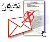 Foto zu Meldung: Information über die Beförderung von Briefwahlunterlagen