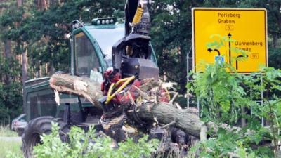 Foto zur Meldung: Forstamt Ludwigslust : A14-Bau für Forst ein Millionenprojekt