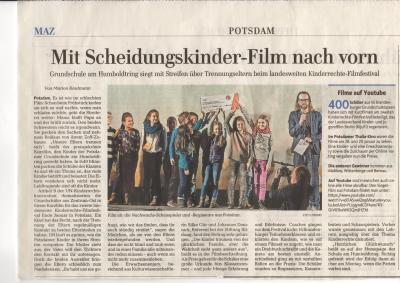 Foto zur Meldung: 1. Platz in der Erwachsenenjury beim Kinderrechtefilmfestival 2015-2016