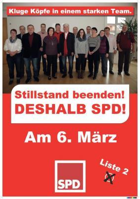 Vorschaubild zur Meldung: Wahlplakate der SPD-Ortsvereine Flieden und Rückers