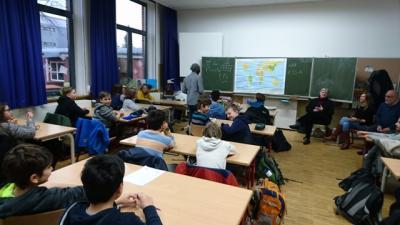 Foto zur Meldung: Fächerübergreifender Unterricht in der 6b