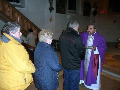 Foto zur Meldung: Sehr große Beteiligung am Aschermittwoch beim Gottesdienst