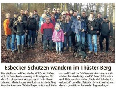 Vorschaubild zur Meldung: Wanderfreunde des KKS unterwegs im Thüster Berg