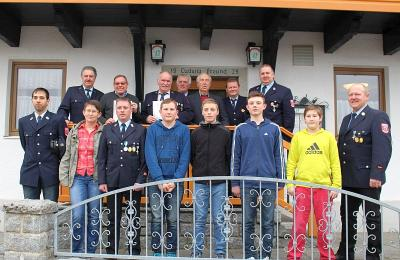 Foto zur Meldung: Die Feuerwehr Moosbach wählte die Kommandanten und eine neue Vorstandschaft
