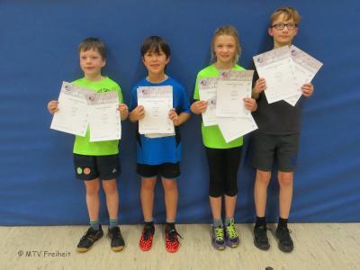 Foto zur Meldung: Gute Platzierungen bei den Kreishallenmeisterschaften