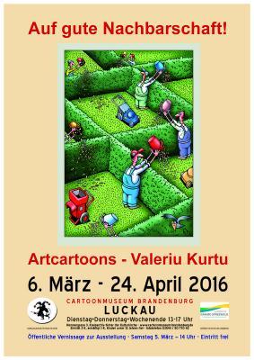 Plakat zur Ausstellung - Motiv von Valeriu Kurtu