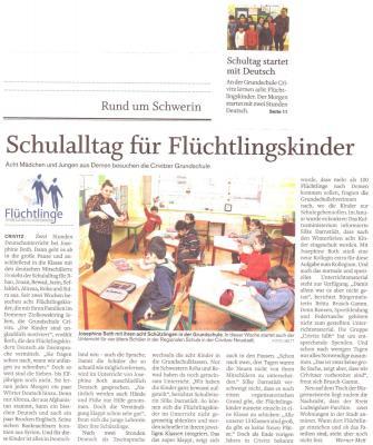 Foto zur Meldung: Schulalltag für Flüchtlingskinder