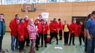 Foto zur Meldung: Spannende und hochklassige Wettkämpfe bei Special Olympics Fußballturnier in Wilhelmsdorf