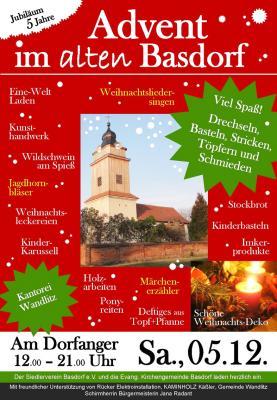 Vorschaubild zur Meldung: Advent in alten Basdorf  am 5. Dezember