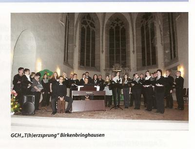 T(H)erzsprung beim Auftritt Bundeschorkonzert