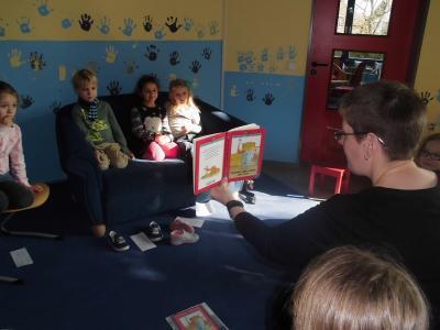 Foto zur Meldung: Vorlesetag der Kaarster Lesepartner an unserer Schule