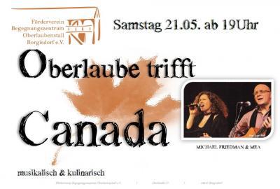 Vorschaubild zur Meldung: Oberlaube trifft Canada - Kanadischer Abend 21.05.2016, Borgisdorf
