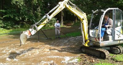 Beräumung nach Starkregen in Ilsenburg 2014