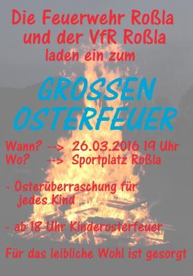 Foto zu Meldung: Osterfeuer in Roßla am 26.03.2016