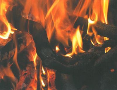 Vorschaubild zur Meldung: Holzfeuer im Freien