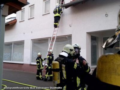 Foto zur Meldung: Einsatz 03/2016 Kellerbrand in Bad Salzungen