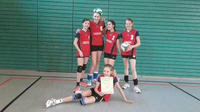 Foto zur Meldung: Mädchen der WK IV siegten im Volleyball-Kreisfinale