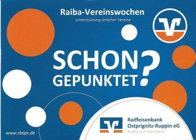 Vorschaubild zur Meldung: ENDSPURT Raiba-Vereinswochen