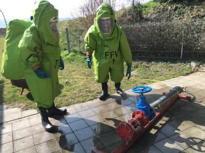 Foto zur Meldung: Chemieschutz Übungstag