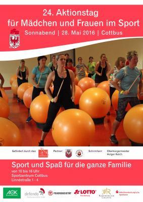 Foto zur Meldung: Voll im Trend: Buntes Sportfest für Mädchen und Frauen in Cottbus