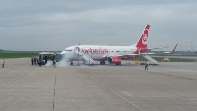 Foto zu Meldung: Katastrophenschutzeinheiten und Rettungsdienst des Landkreises OSL im Übungseinsatz am Flughafen BER