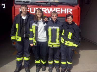 Foto zur Meldung: 4 neue Truppmänner für unsere Ortsfeuerwehr