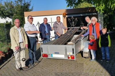 """Foto zur Meldung: Planetenlehrpfad am 3 Kastelle Rundweg (3KR);  """"Spatenstich"""" im Spätherbst"""
